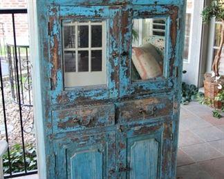 Primitive Painted Cabinet