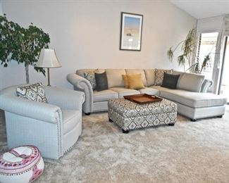 Beautiful, Like-New Sectional Sofa and Chair