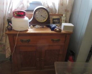 wash stand and clock