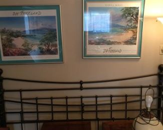 king iron bed frame
