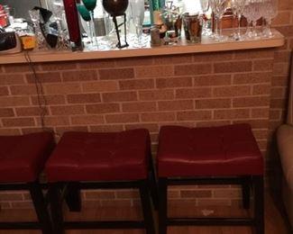 3 short stools
