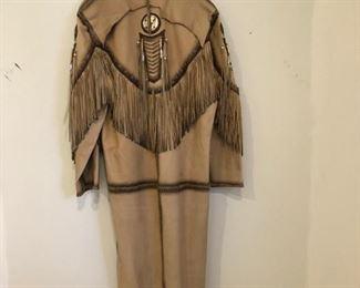 Gamino Leather Fringe Coat $800.00