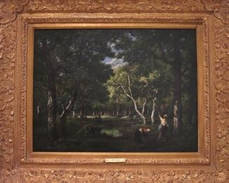 """Figures in the Wood"" by Diaz de la Pena, listed"