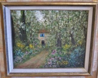 """Country House"" Orig. Oil by Jacques Michael Dunoyer"