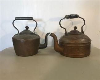 3. Antique Copper Tea Kettles