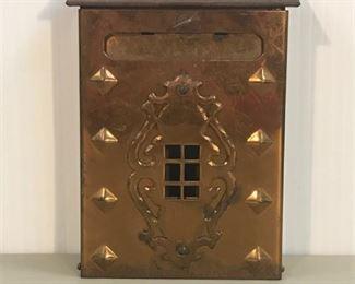 9. Antique Mailbox w hooks inside