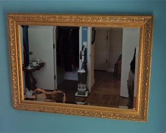 "L26=Gorgeous (modern) gilt mirror (24""x36""):  $ 95."