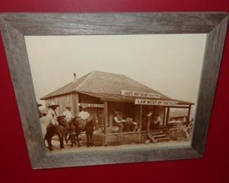 """L16=Photo (reprint) of Judge Roy Bean's courthouse (13.5""""x10.5""""):  $ 20."""