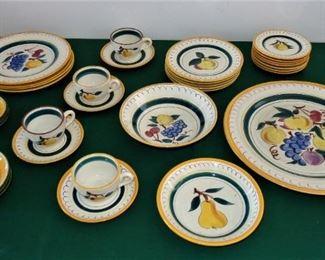 L46=Partial set (33 pieces) Stangl ( Terra Rose line) pottery: $ 120./set