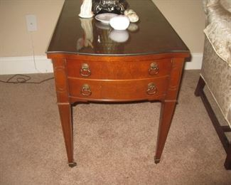 one of a pair of end tables