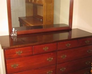 mahogany dresser and mirror