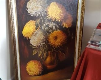 Large Chrysanthemum print from 60's or 70's