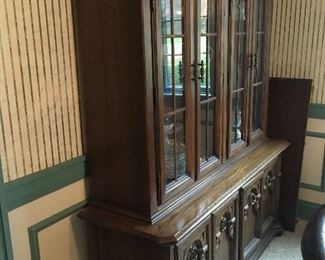 Available Now!  Glass front China Cabinet. In good condition. $125 Call Linda at 615-268-5388.