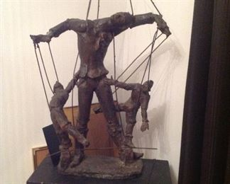 Large bronze, the puppet master, 1960s