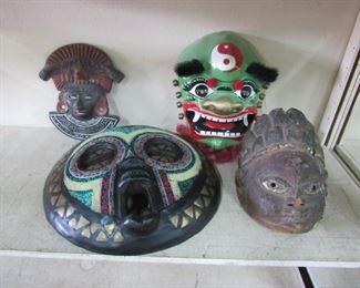 Beaded tribal Masks