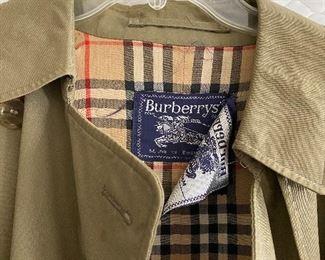 Women's Burberry raincoat