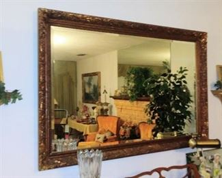 Large Muted Gold Mirror
