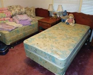 2 Twin. Beds...we have the footboards too!!