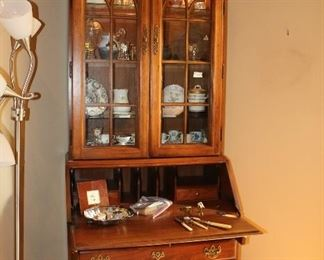 SECRETARY DROP FRONT WITH LIGHTED DISPLAY $365