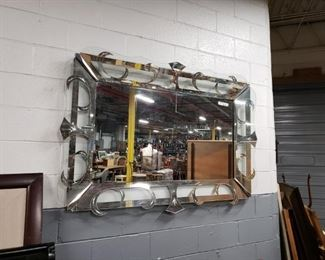 "Gorgeous vintage 64""W x 44""H shadow box style mirror"