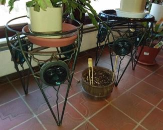 Mid-Century Modern Plant Stands