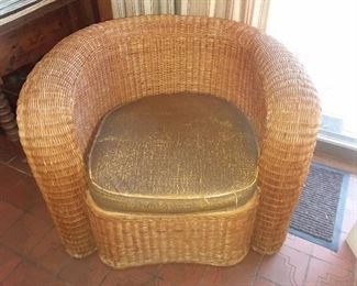 Mid-Century Modern Wicker Chair (Multiple Pieces Available)