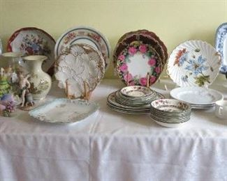 European and Asian antique porcelain.
