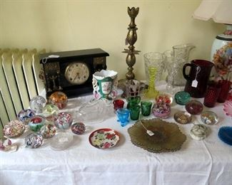 Large variety of paperweights.