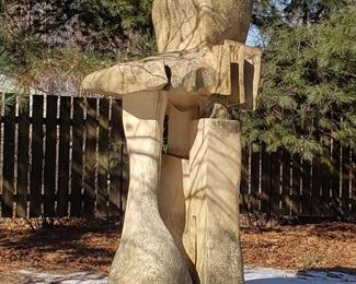 Ron Brown ceramic outdoor sculpture.