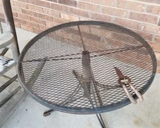 Iron outdoor side table