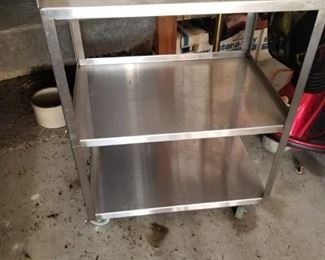 Stainless steel food service cart
