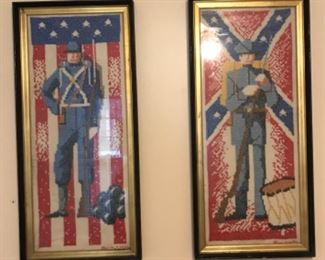 Hand made soldier needlepoint