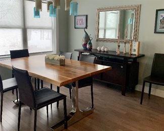 Gorgeous Live edge wood table, chrome legs