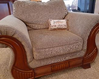 Matching 3-piece living room set, chair shown