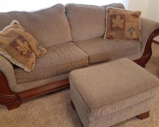 Matching 3-piece living room set, sofa shown