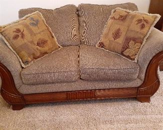 Matching 3-piece living room set, love seat shown