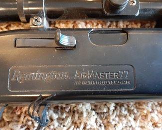 Detail of Remington Airmaster 77 pellet gun