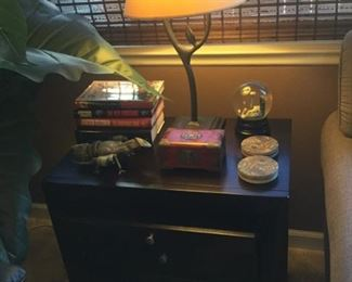 End table with table lamp matches floor lamp