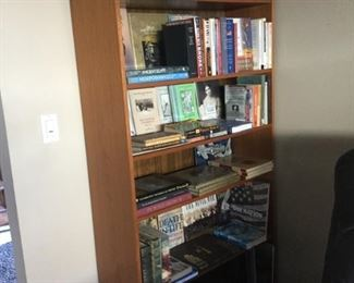 One of three large bookcases