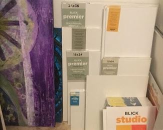 New artist canvases both stretched and pads