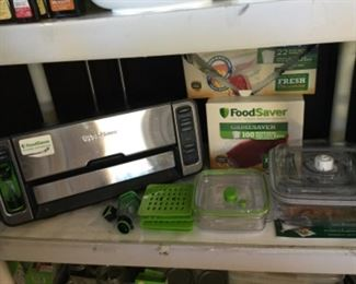 Food saver unit with loads of supplies