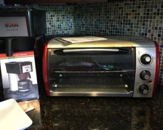 Bunn coffee maker thermos, toaster oven