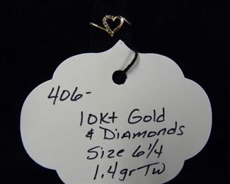 10kt Gold Jewelry