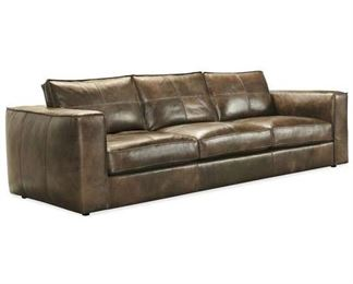 Hooker Furniture Solace Brown Leather Sofa