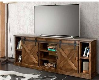 "Loon Peak Pullman Tv Stand For Tvs Up To 88"" In Whiskey"