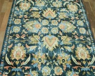 10'X8' Large Teal & Floral Area Rug