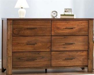 Loon Peak Cayuse 6 Drawer Double Dresser