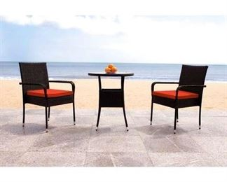 Wrought Studio Lon 3 Piece Bistro Set With Cushions