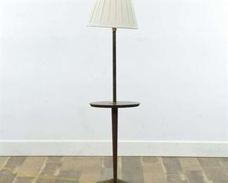 Mid Century Modern Tapered Pedestal Lamp End Table