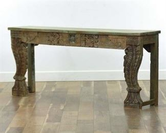 Carved Bohemian Altar Console Table